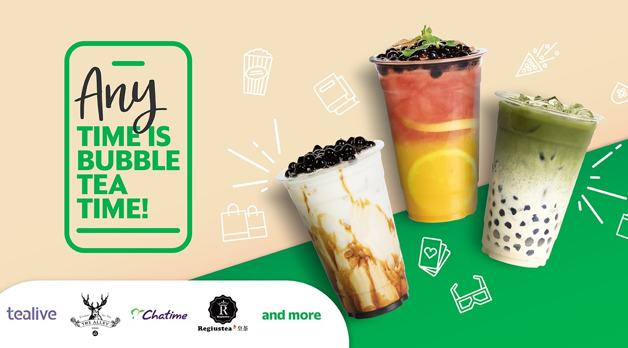 Save on your bubble tea cravings with GrabFood and GrabPay