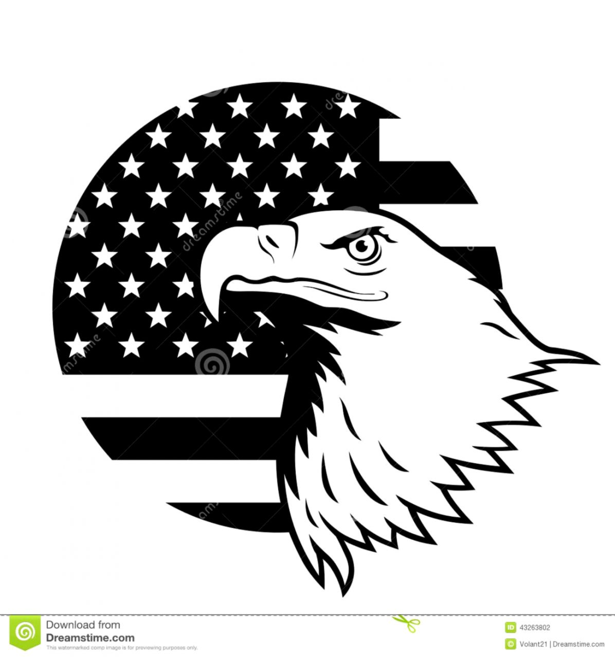 United States Flag Eagle Background