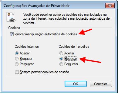 Internet Explorer - Privacidade