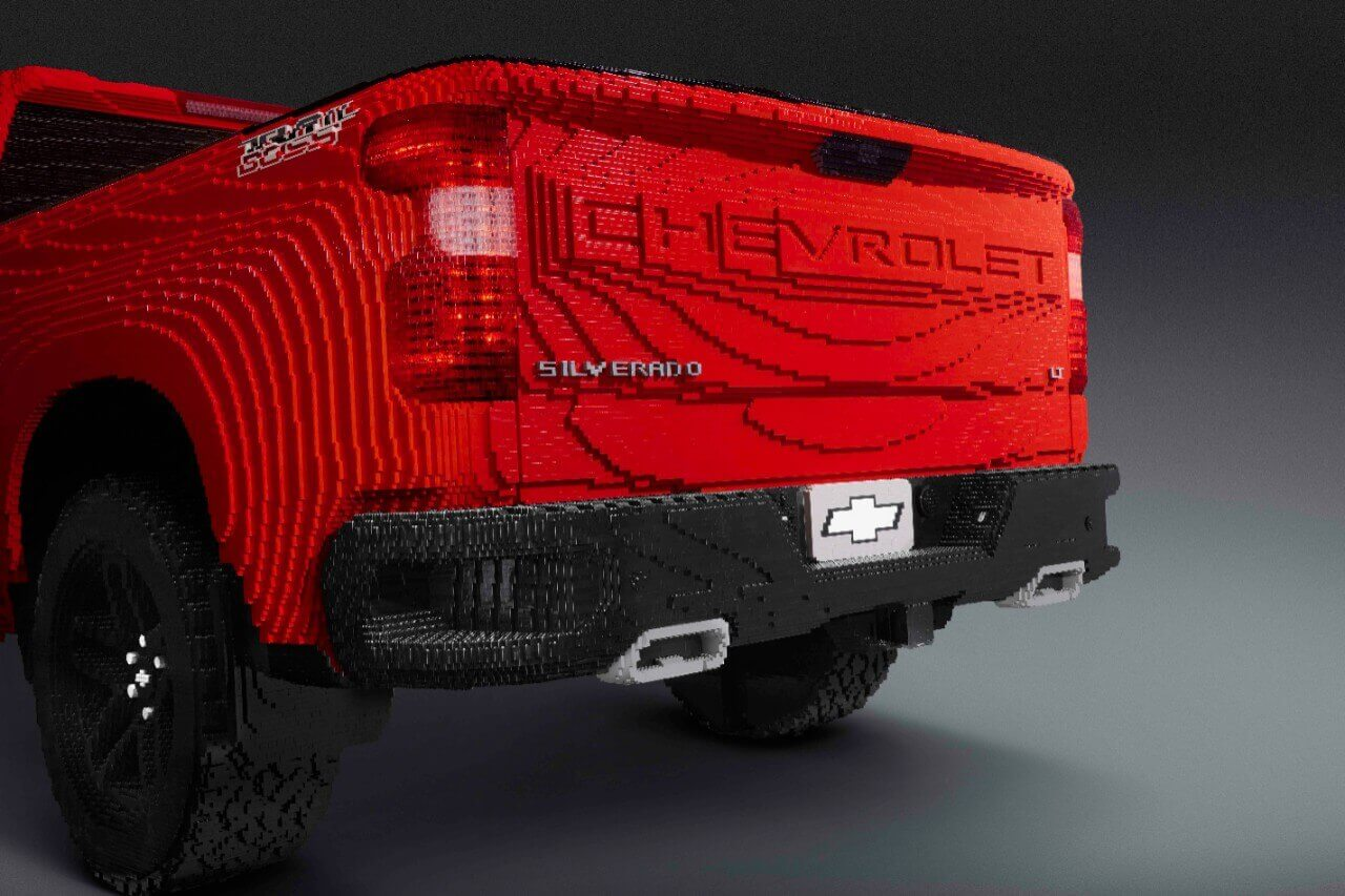 Chevy Has Revealed A Full-Size Replica OF Silverado Truck Made Out OF Lego Bricks