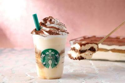 Menu Starbucks 2016 Classic Tiramisu Frappuccino