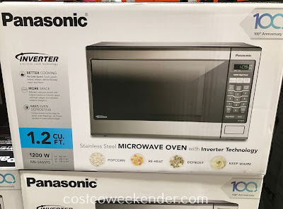 Costco 657723 - Panasonic Stainless Steel Microwave Oven (NN-SA651S): sleek and modern looking