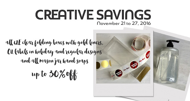 packaging products on sale for a limited time | creativebag.com