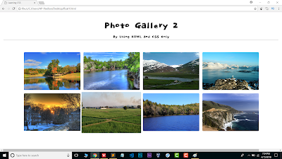 Photo gallery using css and html