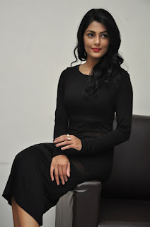 Actress Anisha Ambrose Stills in Black Dress at Run Movie Press Meet  0093.jpg