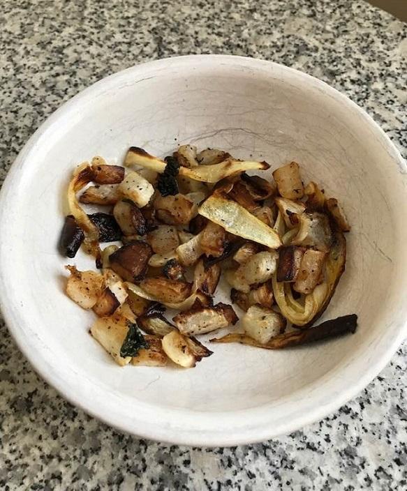 Chopped Roasted Turnip and Onion