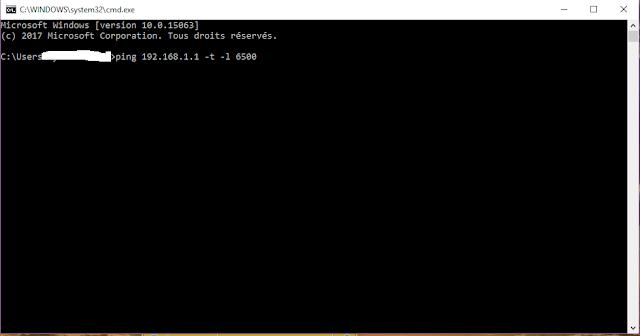 CMD, logiciel attaque ddos  cmd ping ddos gratuit