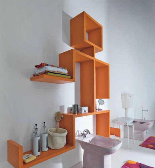 Unique Bathroom Shelves Design Ideas ~ Art Home Design Ideas