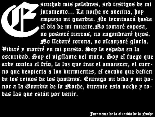Of Thrones Juramento De La Guardia De La Noche Imagez Co