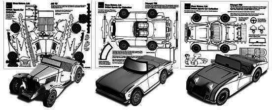 PAPERMAU: Classic British Cars Papercraft Collection - by
