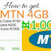 MTN: Get 4GB for N1000, 1GB for N200 and 250MB for only N100