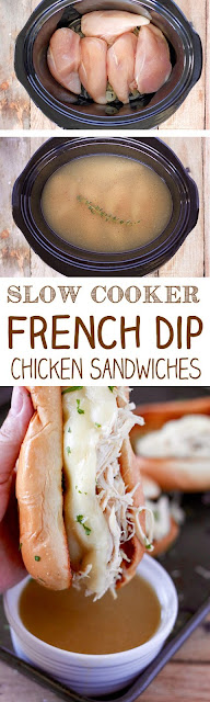 Slow Cooker Chicken French Dip Sandwiches Recipe