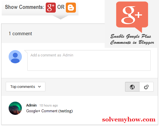 enable google plus comments in blogger