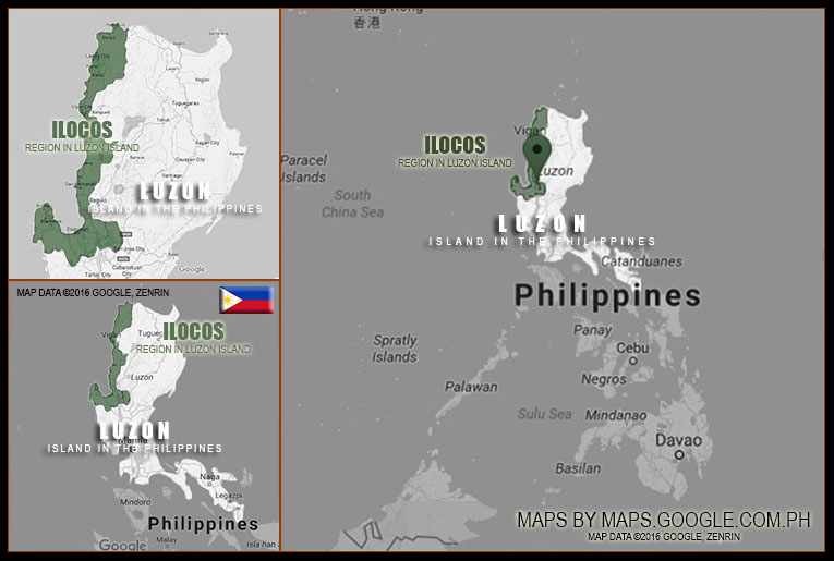 MAP OF ILOCOS