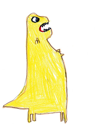 big yellow t-Rex dinosaur