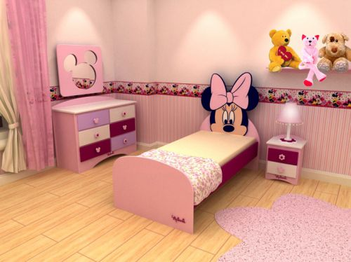 Dormitorios minnie mouse bedrooms for Mesas de habitacion