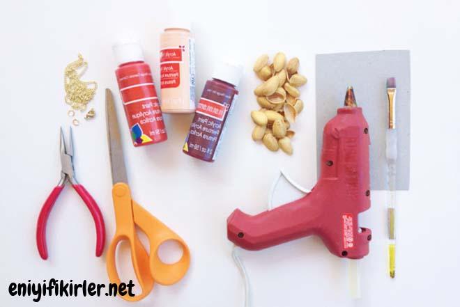 kolye yapımı için gerekli malzemeler