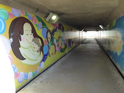 JR津田駅 高架下トンネル