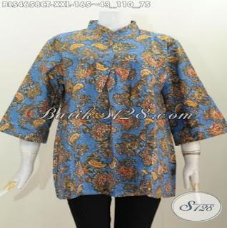 Model Baju Kerja Batik Wanita Berjilbab