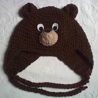 Urso pardo em crochê
