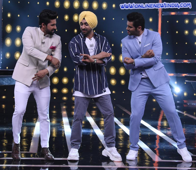 Diljit Dosanjh on the sets of Sabse Smart Kaun
