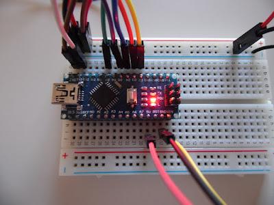 Fig. 8 - Arduino Nano V3.0 Compatibile al lavoro con lo sketch - foto di Paolo Luongo