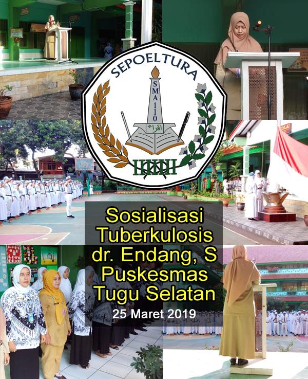 sosialisasi penyakit TBC Kelurahan Tugu Selatan di SMAN 110