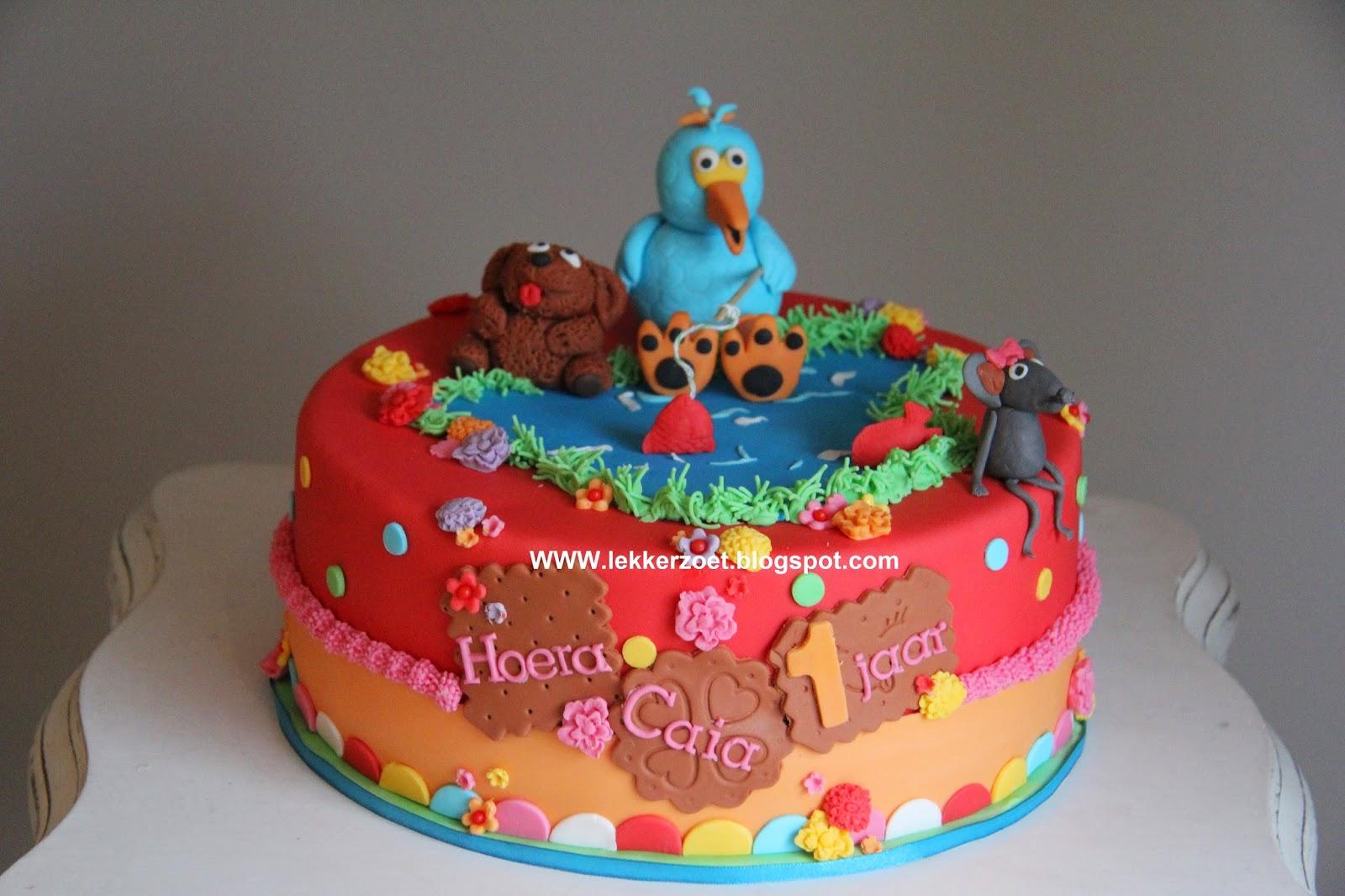 Populair lekker zoet: Sesamstraat taart met koekie monster als mep taartje  @ZV68