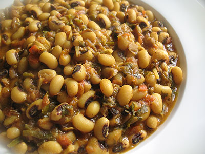 Black-Eyed Peas with Tomatoes and Spices