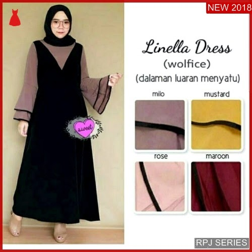 RPJ003D32 Model Dress Linella Cantik Dress Wanita