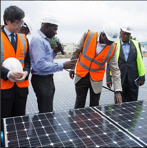 Fashola receives 1.2megawatts solar power plant donated by Japan