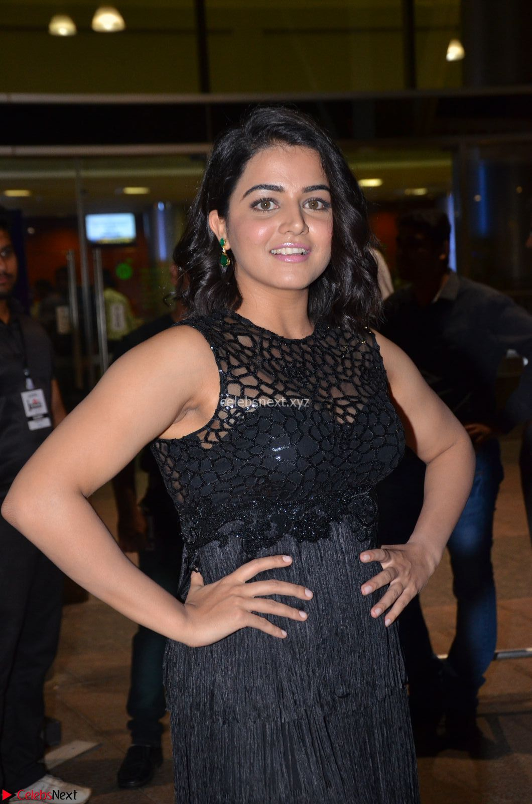 Wamiqa Gabbi in a sleevelss Black Designer Transparent Gown at 64th Jio Filmfare Awards South - 17th Jun 2017 ~ CelebsNext Exclusive