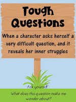 Tough Questions- This blog post includes 6 free signpost posters and 12 passages!