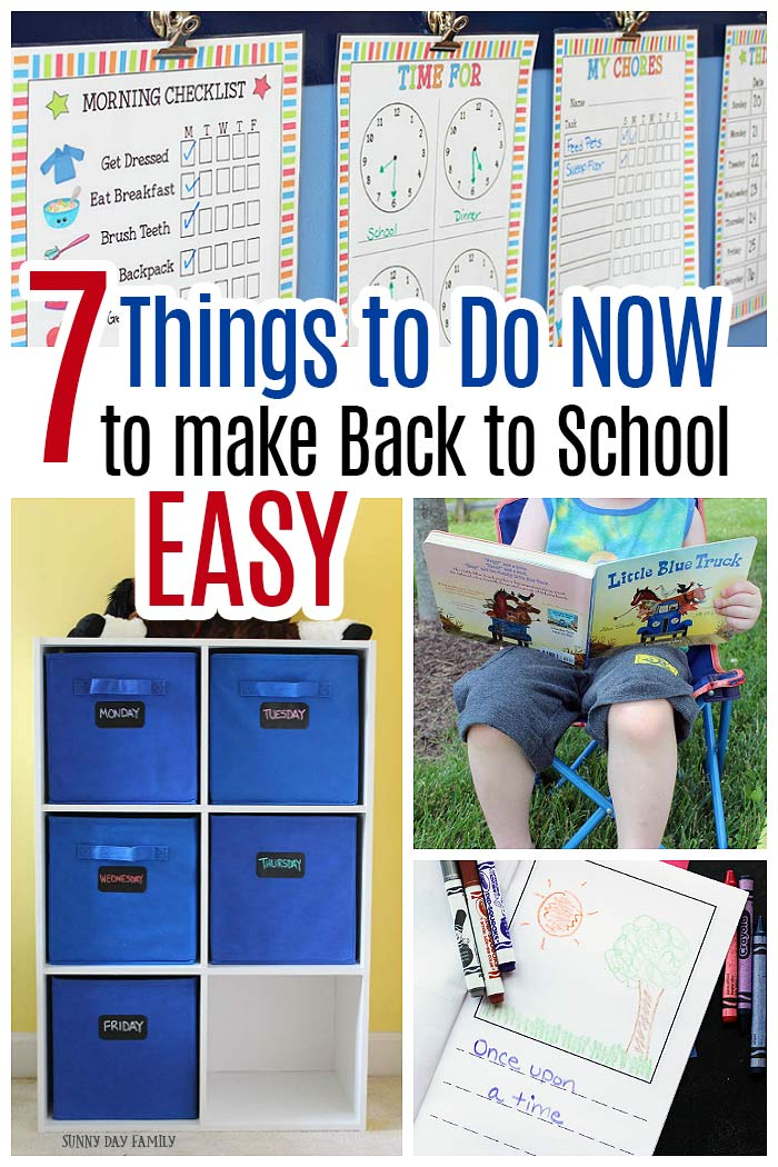 Make back to school time easy by starting these habits NOW. Help kids get ready for school and make your back to school routine easy. Love these back to school tips! #backtoschool #parenting #summereading #momlife