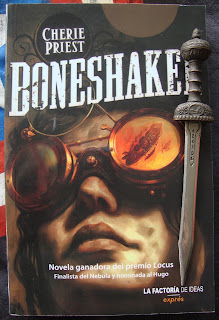 Portada del libro Boneshaker, de Cherie Priest