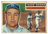 1956 Topps Duke Snider