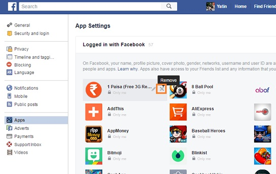 How to remove appsgames connected with your facebook account tech for facebook app and facebook browser users remove app game connected with your facebook account ccuart