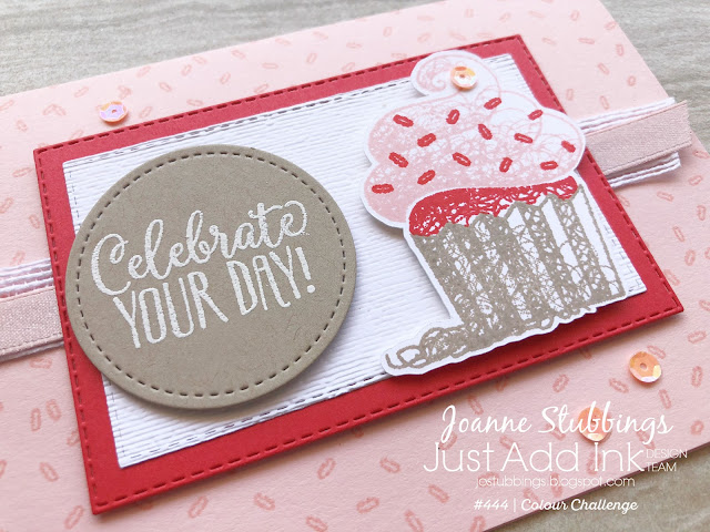 Jo's Stamping Spot - Just Add Ink Challenge #444 using Hello Cupcake by Stampin' Up!
