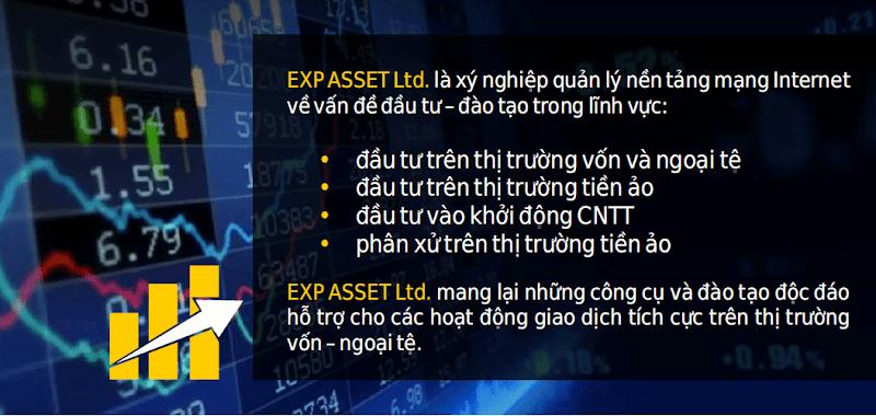 Review EXP ASSET - Lãi 1% hằng ngày cho 120 ngày làm việc - Đầu tư tối thiểu 100$