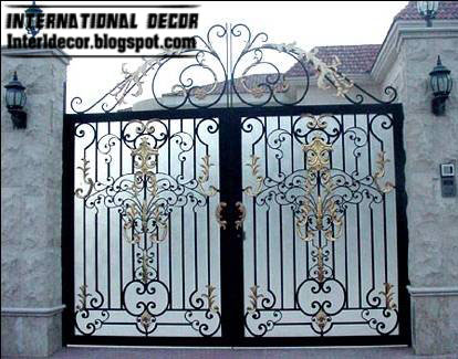 Modern Iron Gate Designs Glided Black on best ceiling design living room