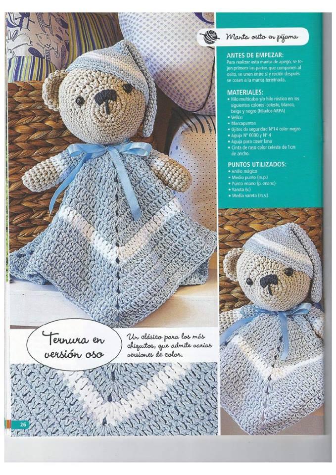 PATRONES GRATIS DE CROCHET: MANTA DE APEGO para bebe a crochet ...