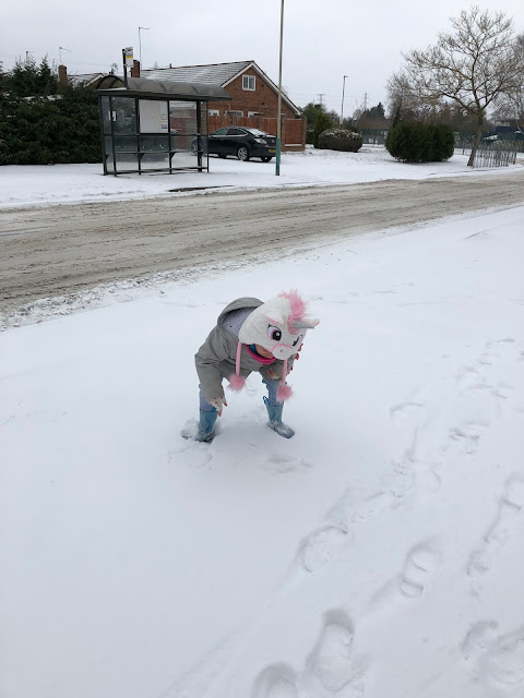 Ellie in the Snow, or is it a Unicorn?