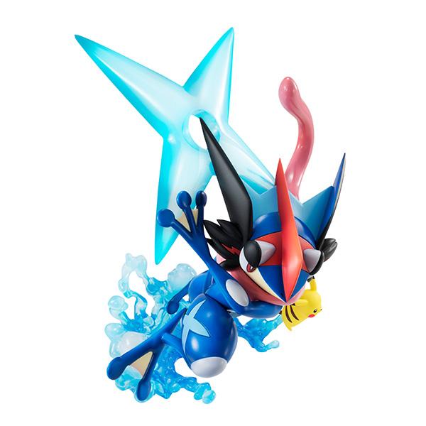PIKACHU Y ASH/'s Greninja Figura de PVC Nuevo Megahouse Pokemon G.e.m Ash Ketchum
