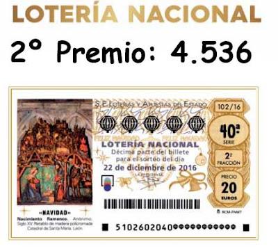 segundo premio loteria navidad 2016
