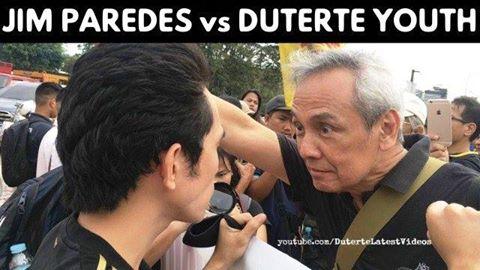 Jim Paredes vs Duterte youth supporters clash at EDSA Shrine