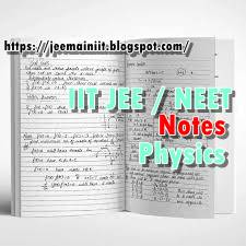 DOWNLOAD Free IIT JEE/NEET/AIIMS HANDWRITTEN NOTES (Physics
