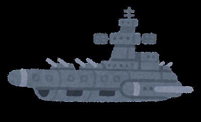 宇宙船のイラスト(母艦・背景なし)