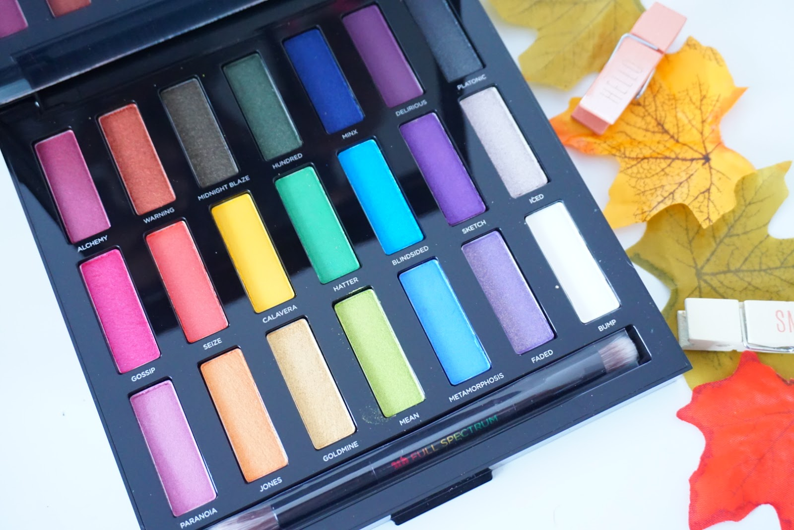 urban decay full spectrum eyeshadow palette review swatches
