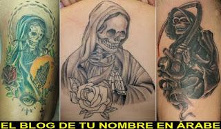 Mejores tattoos de la santa muerte
