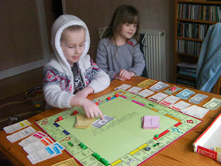 game of monopoly in progress